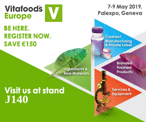 Visit us at Vitafoods Europe at stand J140!